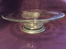"""Sterling and Crystal Dish 5.3""""Diameter.-516"""