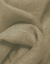 Drapery Upholstery Fabric 100% Linen Solid - Natural