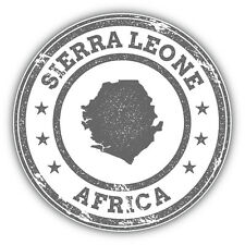 Sierra Leone Map Africa Grunge Rubber Stamp Car Bumper Sticker Decal 5'' x 5''