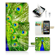 iPhone 5C Print Flip Wallet Case Cover! Beautiful Peacock P0184