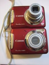 2  lot  canon camera  a480  as is parts repair