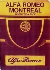 ALFA ROMEO Montreal Handbook Instruction manual catalogue paper car