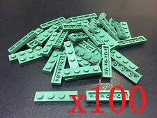 Lego Sand Green Plate 1 x 4  (Lot of 100)