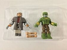 MiniMates Marvel Secret Wars WASTELANDS WOLVERINE & DYSTOPIA HULK New Loose