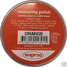 WAPROO RENOVATING POLISH CREAM - RESTORE COLOUR TO SCUFFED LEATHER SHOES BOOTS
