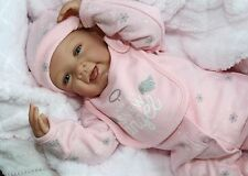 "SNOW ANGEL! -Newborn 21"" Collectors Life Like Pacifier Baby Girl Doll + 2Outfits"