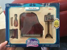 Petite Dreams Dollhouse Furniture Music Room Piano Violin Miniatures. L12
