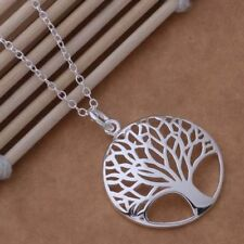 "-UK- 925 Silver Plated Hot Tree Of Life Pendant Necklace with  18"" chain (105)"