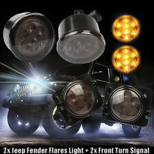 2X LED Turn Signal Light Head Lamp Fender Parking Side Markers For Jeep Wrangler