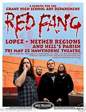 RED FANG / LOPEZ / NETHER REGIONS 2012 PORTLAND CONCERT TOUR POSTER
