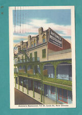Antoine's Restaurant New Orelans La Vintage Postcard Post Card Linen 1965