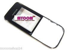 100% originale Nokia 2730 Classic FRONT COVER CHASSIS A CROMO NERO NUOVO