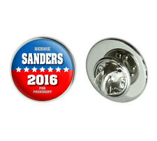 Bernie Sanders For President 2016 Election Campaign Round Lapel Hat Pin Tie Tack