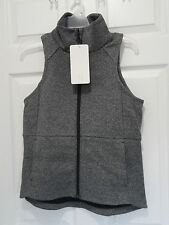 New With Tag Lululemon Going Places Vest Heathered Speckled Black Size 4