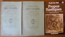 NOEL DU FAIL CONTES ET DISCOURS D'EUTRAPEL 1875 JOUAUST + PROPOS RUSTIQUES XVIe