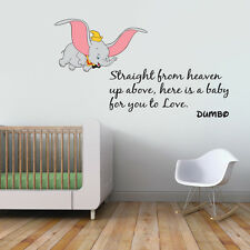 GRANDE DUMBO preventivo colore dei bambini Wall Sticker Vinyl Decal Wall Art Trasferimento