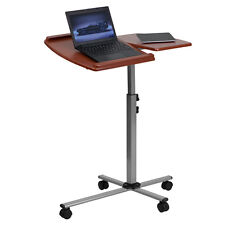 Flash Furniture Angle and Height Adjustable Mobile Laptop Computer Table  Cherry