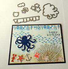 Sea Street dies by dave & Stampin up Ribbon~use with by the tide su set