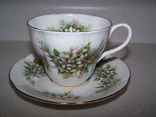 ROYAL ALBERT BLOSSOM TIME SERIES ORANGE BLOSSOM  - BONE CHINA CUP AND SAUCER
