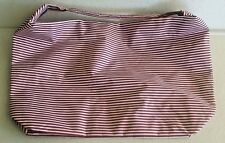 Lancome Red and Pink Stripe Nylon Multi-Use Shoulder Tote Bag, New-No Tag