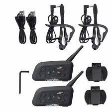 2 BT Intercomunicador Interphone Bluetooth Auriculares Interfono para Moto 1200M