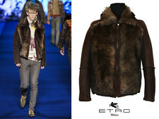 NEW ETRO UNIQUE & RARE RUNWAY SHEARLING LAMB MEN'S JACKET 50 - 40