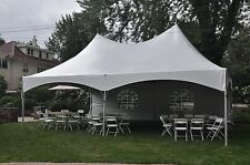 20 x 30 White Canopy High Peak Frame Tent Outdoor Party Event Wedding Marquee