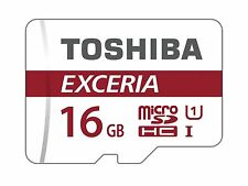 16GB TOSHIBA Exceria Micro SD SDHC Memory Card Galaxy S3 S4 S5 Tab Ace Mini UK