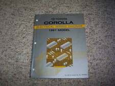 1991 Toyota Corolla Electrical Wiring Diagram Manual DX LE SR5 GTS 1.6L 4Cyl