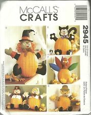 McCALL'S CRAFTS 2945 HALLOWEEN PUMPKIN POKES NEW & UNCUT PATTERNS WITCH & MORE
