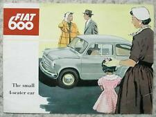 FIAT 600 Small 4 Seater Car Sales Brochure c1959 #1243