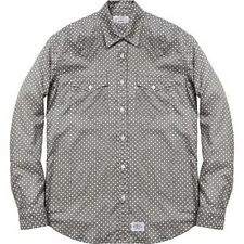 SUPREME Levis Western Shirt Grey M Box Logo 2012 safari camp cap camels F/W 12
