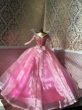 Aurora Sleeping Beauty Medieval Pink 40th Anniversary Disney Barbie Doll Dress