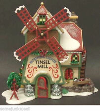 Dept 56 NORTHERN LIGHTS TINSEL MILL 56704 Christmas Lighted Building