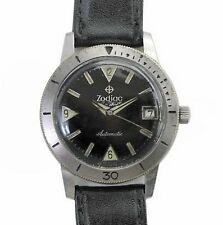 "Vintage 1960's Zodiac ""SeaWolf"" Automatic Military Divers Watch Hacking System"