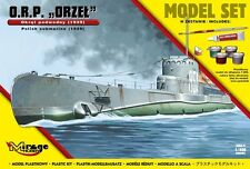 ORP ORZEL SUBMARINE /GIFT SET WITH GLUE, BRUSH AND VALLEJO PAINTS/ 1/400 MIRAGE