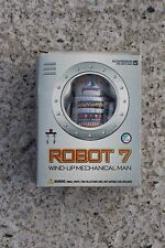 Vintage Robot 7 Figurine Wind Up Toy Moving in Box Mechanical Man
