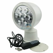 Marine LED Remote Control Spot Light Boat Project Wireless Floodlight 10-30V 27W