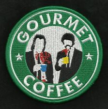GOURMET COFFEE PULP FICTION VINCENT & JULES VELCRO MORALE BADGE MILITARY PATCH