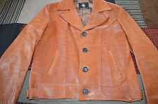 Vintage Golden Bear San Francisco Brown Soft Leather Jacket Motorcycle XL 44R