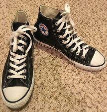 CONVERSE Chuck Taylor All Star High Top Sneakers Leather Black Men 7 Women 9