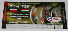 Ticket for collectors EURO q * Poland - Hungary 2003 in Chorzow
