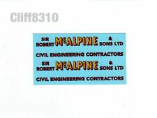 Hornby O Gauge Side Tipping Wagons | McAlpine | Waterslide Transfer/Decal