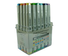 F24 Finecolour Sketch Marker Pen 24 Colors Lot Artist Brushwork Stand Box EF100