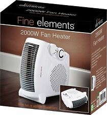 2000w 2KW Portable Silent Electric Fan Heater Thermostat Cool Hot Winter Floor