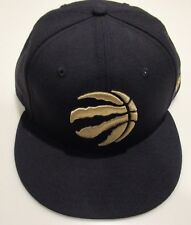 Toronto Raptors NBA Basketball Claw Ball Logo Black Gold 59Fifty Hat Cap 7 3/8