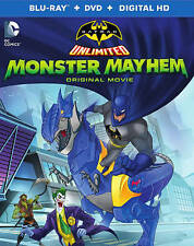 Batman Unlimited: Monster Mayhem (Blu-ray/DVD, 2015, 2-Disc Set) NEW