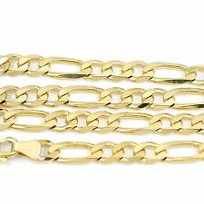 "14k Yellow Gold Figaro Chain Necklace 18""(new, 17.55g)#2482b"
