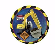 "Construction Truck Dessert Plates, Birthday Party Supplies, 7"" Excavator 10p Pk"