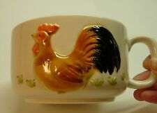 OTAGIRI MUG/SOUP BOWL WITH RAISED ROOSTER DESIGN